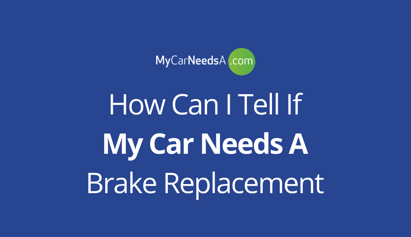 Brake Replacement Infographic