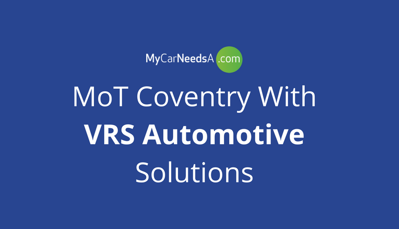 MoT Coventry with VRS Automotive Solutions