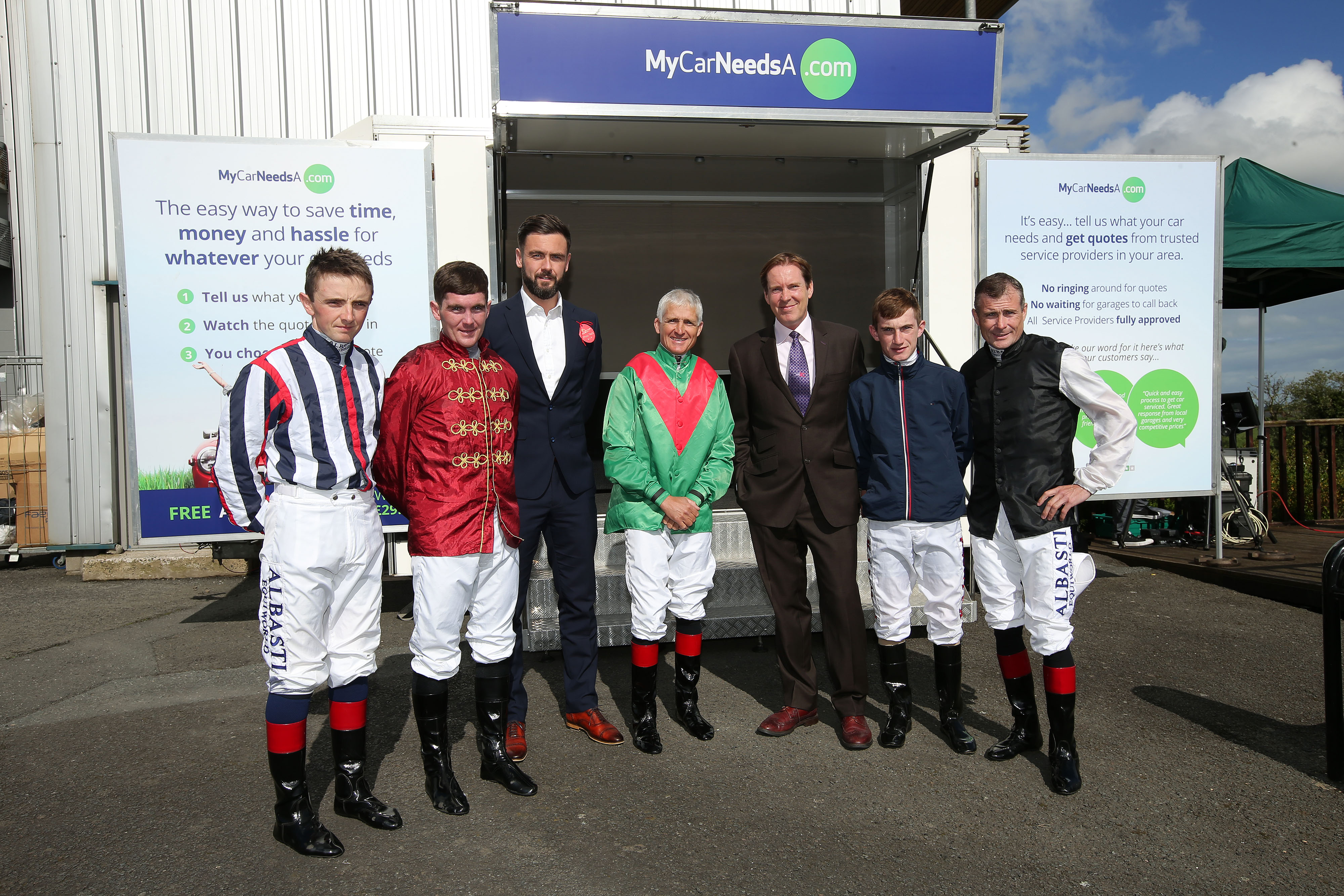 MyCarNeedsa at Down Royal with Jockeys