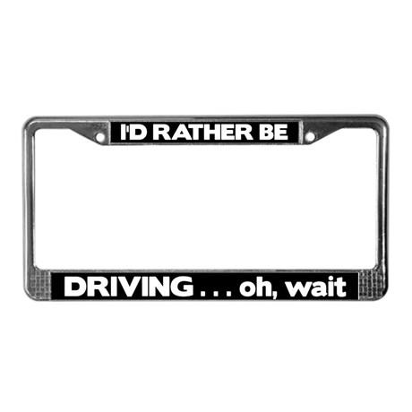 Joke license plates